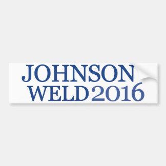 Soldadura 2016 de Johnson Pegatina Para Auto
