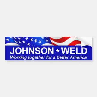 Soldadura de Johnson que trabaja junto Pegatina Para Auto