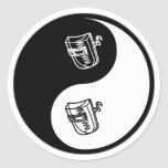 Soldadura de Yin Yang Etiqueta