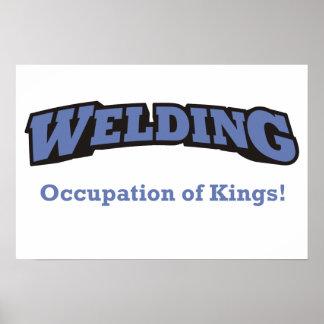 Soldadura - empleo de reyes póster