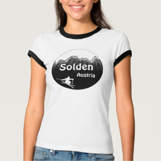Solden Austria ladies ski art tee