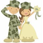 "Soldier and Bride Wedding Cake Topper Statuette<br><div class=""desc"">JW Designs</div>"
