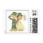 Soldier and Bride Wedding Custom Postage