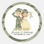 Soldier and Bride Wedding Stickers