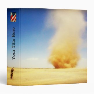 Soldier and Desert Sand Storm Binder