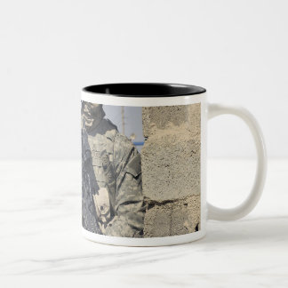 Soldier armed with a MK-48 Two-Tone Coffee Mug