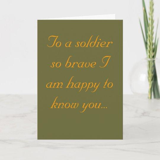Soldier Birthday Card Zazzle