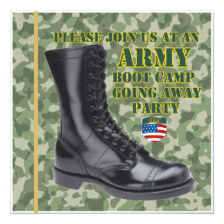 Soldier Boot Camp Going Away Party Invitation
