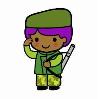 Soldier Boy Standing Photo Sculpture
