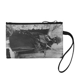 Soldier by Crumbling Doorway Coin Wallets
