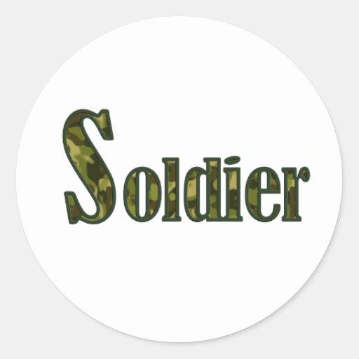 Soldier camouflage sticker