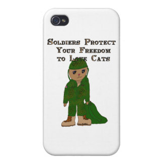 Soldier Cat Covers For iPhone 4