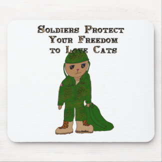 Soldier Cat Mouse Pad