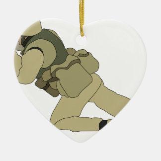 Soldier Ceramic Ornament