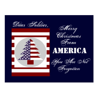 SOLDIER CHRISTMAS CARD POSTCARD