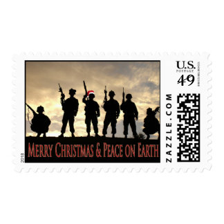 Soldier Christmas Postage Stamp