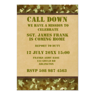 soldier coming home invitation