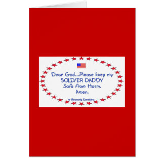 Soldier Daddy Father's Day Greeting Card