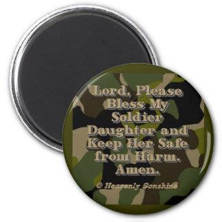 Soldier Daughter Prayer 2 Inch Round Magnet