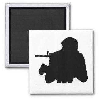 Soldier Detailed Silhouette Magnet