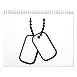 Soldier Dog tags Calendar