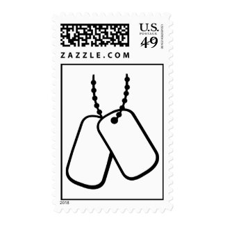 Soldier Dog tags Postage