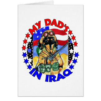 Soldier Doxie Dad Card