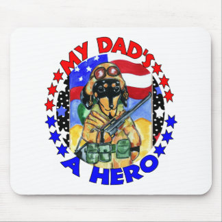Soldier Doxie Dad Mouse Pad