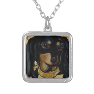 Soldier  Doxie Silver Plated Necklace