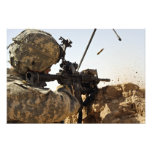 soldier engages enemy forces photo print