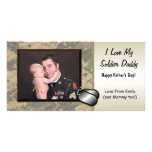 Soldier Fathers Day Customizable Photo Card