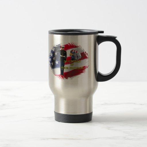 Soldier flag 15 oz stainless steel travel mug