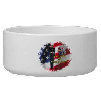 Soldier flag Pet Bowl (2) sizes