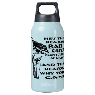 Soldier & Flag The Reason You Can Sleep At Night Insulated Water Bottle