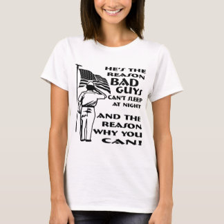 Soldier & Flag The Reason You Can Sleep At Night T-Shirt
