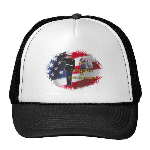 Soldier flag trucker hat