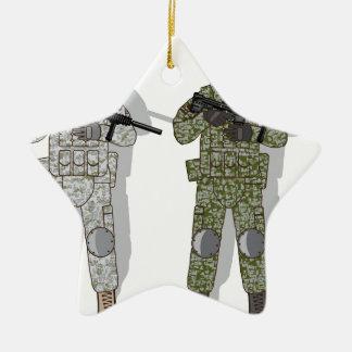 Soldier Full Gear Ceramic Ornament
