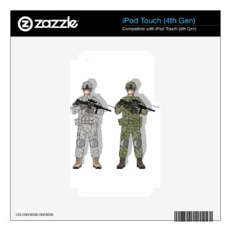 Soldier Full Gear iPod Touch 4G Decals