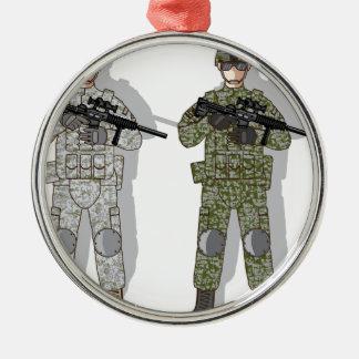 Soldier Full Gear Metal Ornament