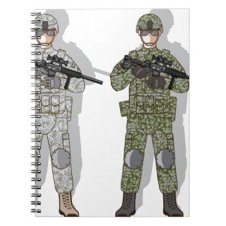 Soldier Full Gear Notebook