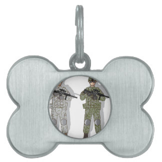 Soldier Full Gear Pet Name Tag