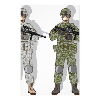 Soldier Full Gear Stationery