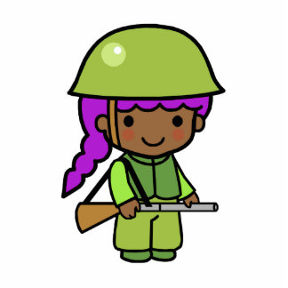 Soldier Girl Cutout