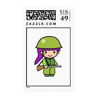 Soldier Girl Postage