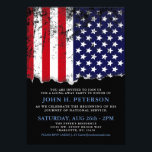 "Soldier Going Away Party Announcement | Invite<br><div class=""desc"">Celebrate the soldier who is beginning his or her journey in service of our nation. Whether you are throwing a simple dinner, a surprise party, or just a general going away/ or coming home party get together this invitation will suits your needs. It features a bright and bold American flag...</div>"
