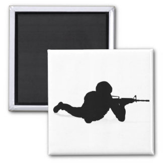 Soldier High Quality Silhouette Magnet