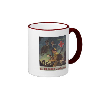Soldier Holding Coffee Mugs