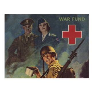 Soldier Holding Coffee Postcard