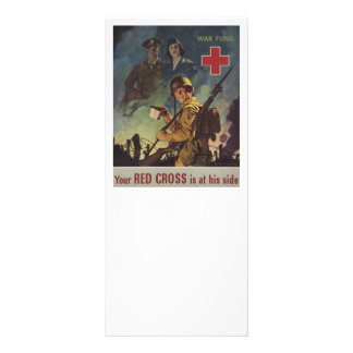 Soldier Holding Coffee Rack Card
