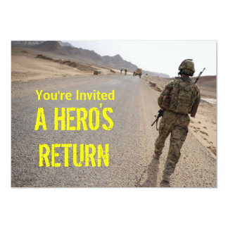 Soldier Homecoming Party invite